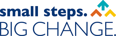 small steps big change logo